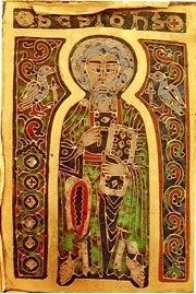 Kép: János apostol a magyar Szent Koronán