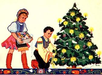 Kép: Karácsonyi lap 1940-ből