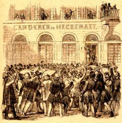 A szabad sajtó első terméke a Landerer és Heckenast nyomdában készült