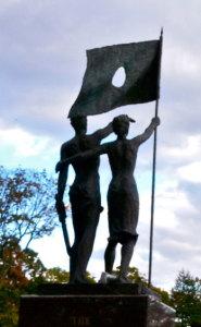 Kúr Csaba: Szabadságharcos emlékmű, 1987. Passaic, New Jersey, USA