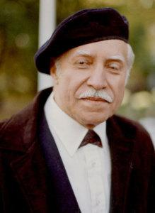 8.sz. kép:  Kúr Csaba szobrászművész, 1987