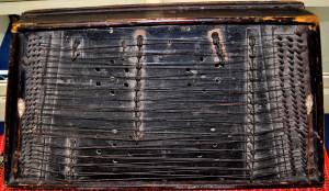 Hordozható kiscimbalom az 1840-50-es évekből, AMM gyűjteménye