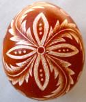 Karcolt/vakart tojás