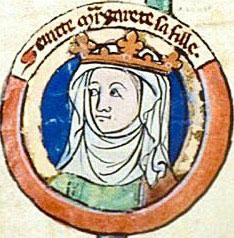 Szent Margit, Skócia királyné arcképe egy kódexből